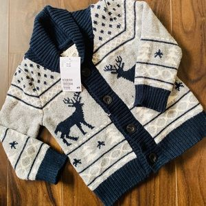 H&M Toddler Boy's Patterned Cardigan Sweater